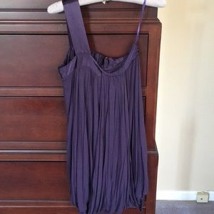 French Connection purple cotton dress